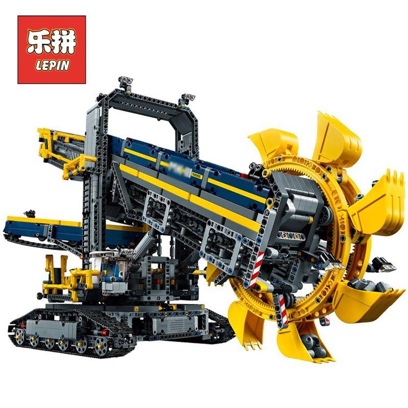2018 New LEPIN 20015 3929Pcs Technic Bucket Wheel Excavator Model Building assemble Kit Blocks Brick Compatible Toy Gift 42055