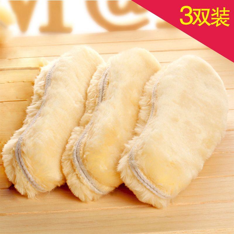 = Trois paires Unisexe Hiver chaud semelles artificielle Cachemire Thermique En Peau de Mouton Neige Bottes Chaussures Tapis Laine Artificielle semelle Adulte