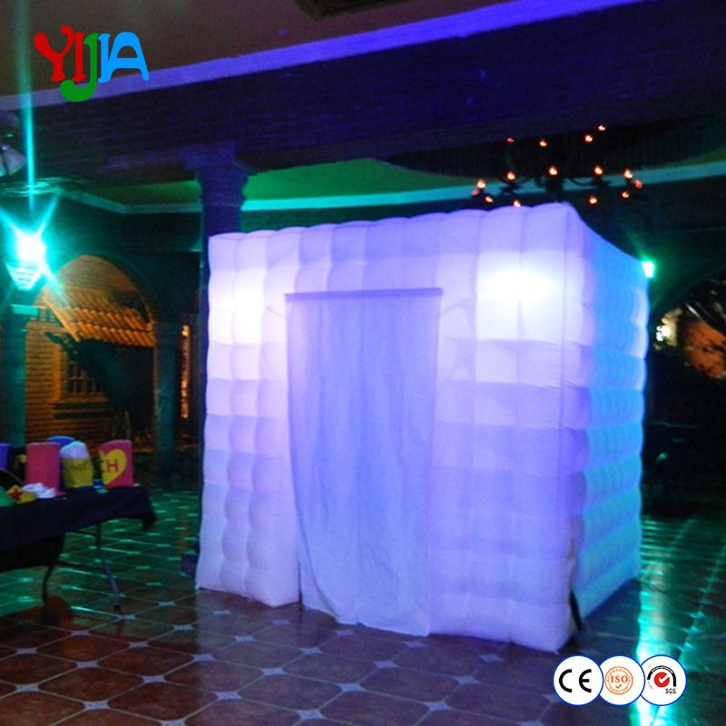 Free shipping Best quality Portable inflatable photo booth cube tent for Party