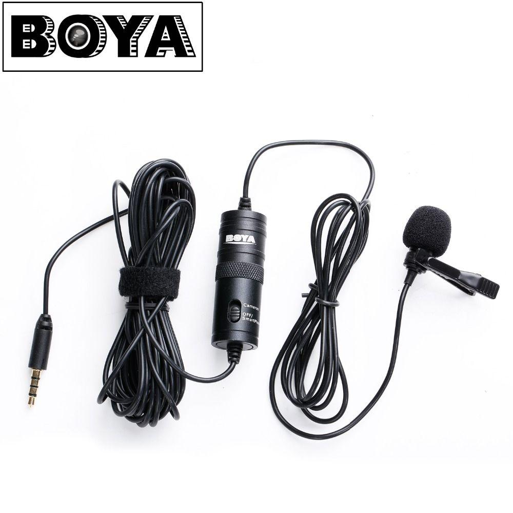 BOYA BY-M1 Omnidirectionnel Caméra Cravate Microphone À Condensateur Mic pour Canon Nikon Sony DSLR Caméras et IOS iPhone Smartphones