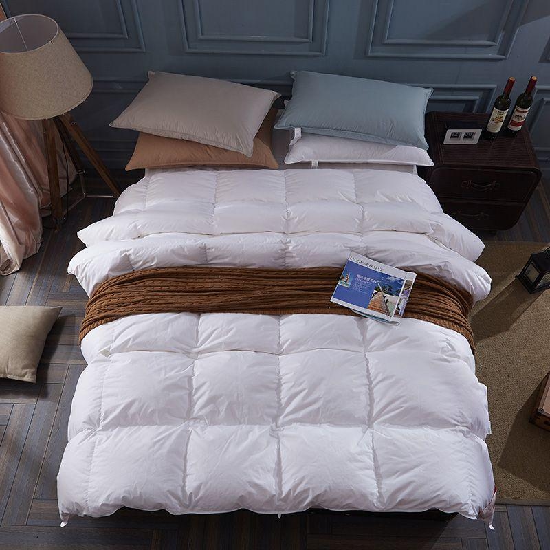 100% weiße ente/gänsedaunen winter quilt tröster decke bettdecke füllung baumwolle abdeckung twin einzel königin abendessen könig größe fasten schiff
