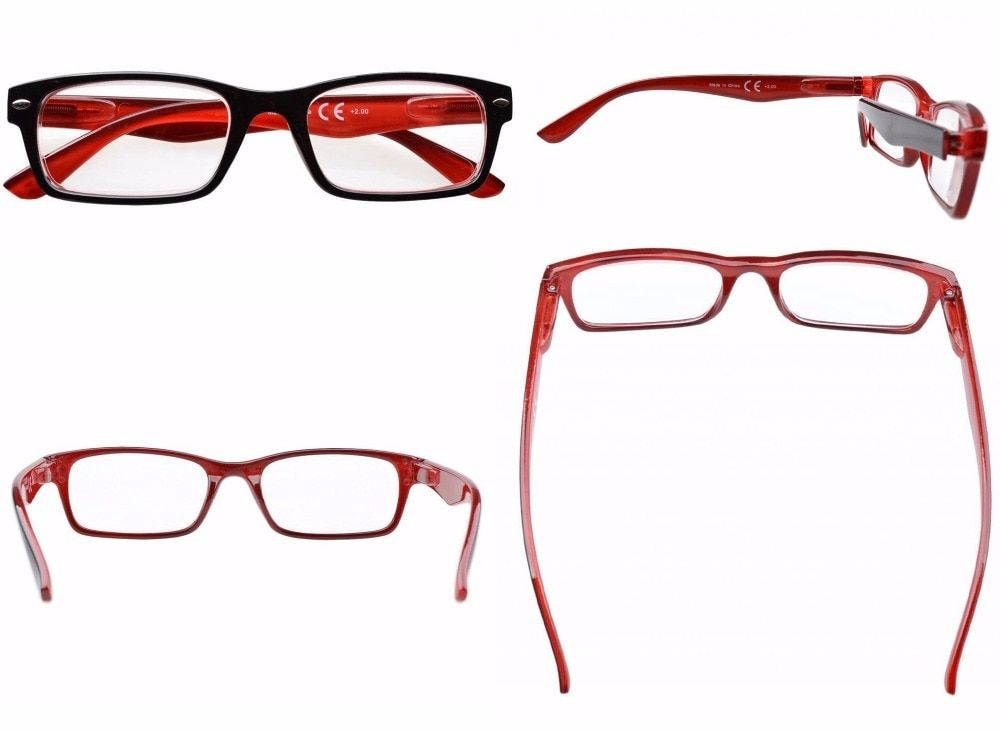 5-pack Spring Hinges Plastic Reading Glasses Includes Sun Readers +0.00---+4.00 KF201-217