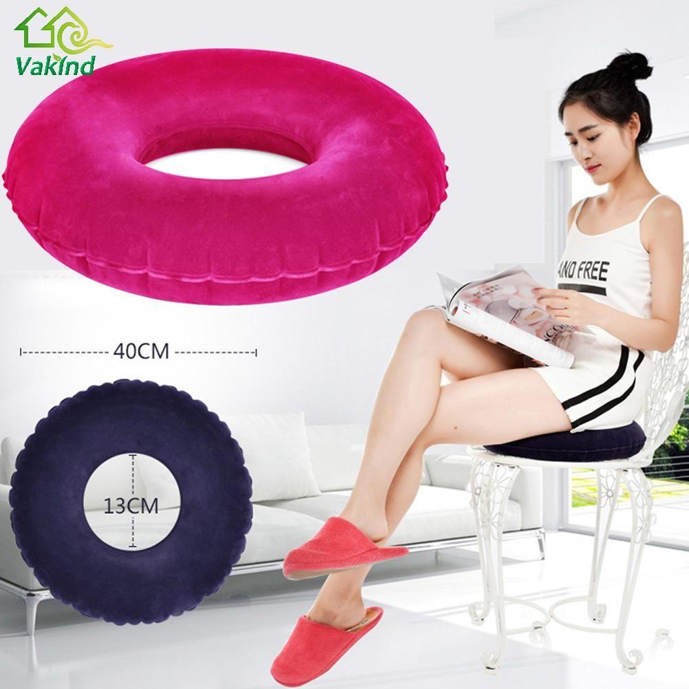 Nouveau Gonflable Coussin Rond Vinyle Siège Coussin Médicaux Hémorroïdes Oreiller Assis Donut Oreiller De Massage Haute Qualité