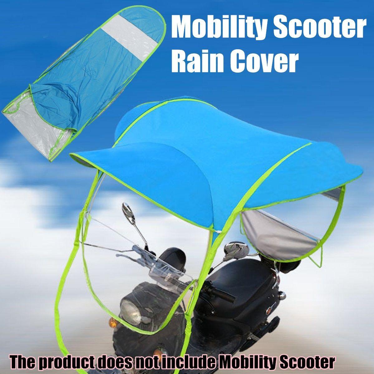 Mofaner Azul de Poliéster Cubierta de Vehículo Eléctrico Moto Scooter Cortina de Sun Rain Umbrella Movilidad Poncho impermeable A Prueba de Polvo