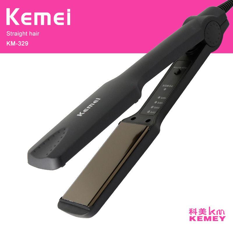 Kemei lisseur cheveux professionnel fer à lisser pranchas de cabelo fers à friser styling outils chapinha ionique fer plat