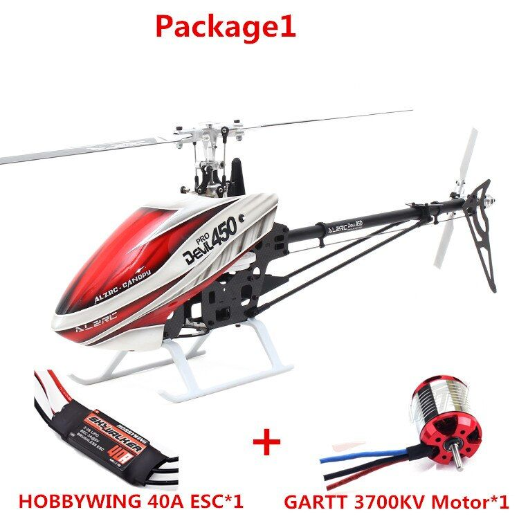 ALZRC -450 Helicopter Devil 450 Pro V2 FBL KIT - Silver DIY With Housing And Paddle
