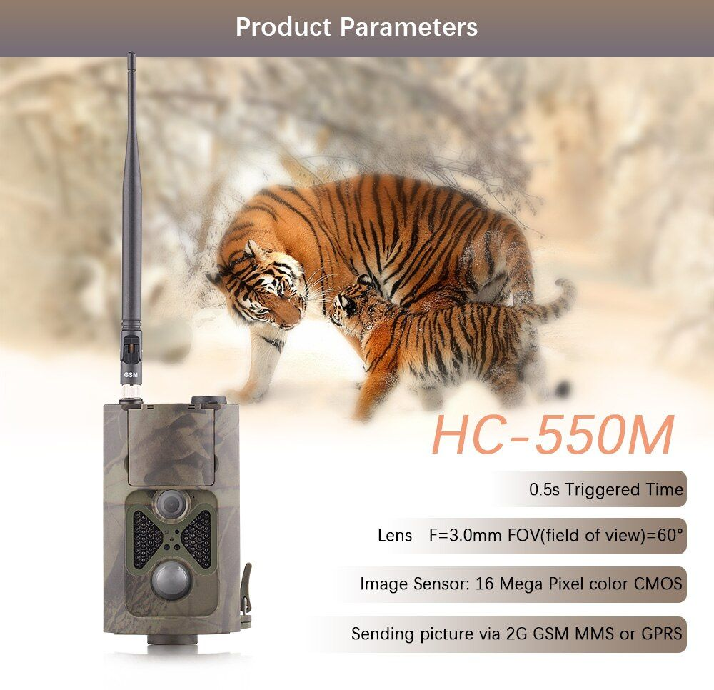 CE RoHS FCC 12 Languages Wildlife Game Trail Scouting Hunting Trail Camera 24leds Night Vision suntek hunting camera hc 550m