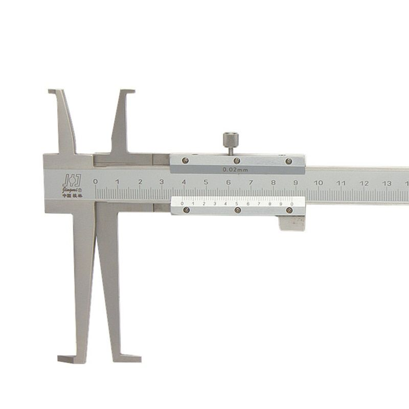9-200mm/0.02 Long Claw Inside Groove Vernier Caliper Stainless Steel Inner Vernier Calipers Accuracy Measuring Tools