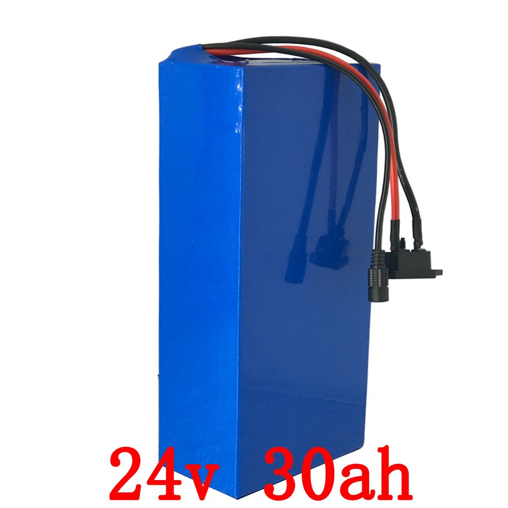 Free customs Free 24V30Ah Li Ion Battery For 24 Volt 700W 500W 350W Motor with 30A BMS and charger free