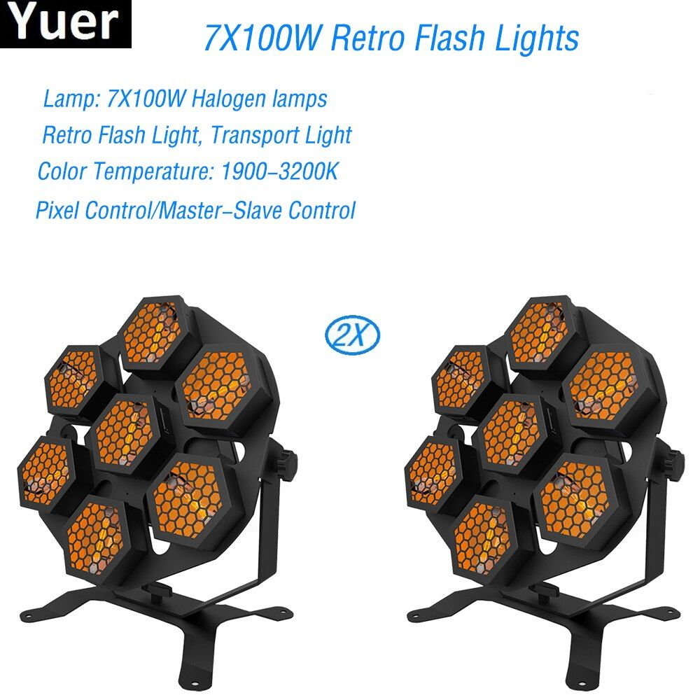 2Pcs/Lot New High Quality 7X100W Retro Flash Lights Whirlwind Laser Projector Stage Disco DJ Club KTV family party light Show