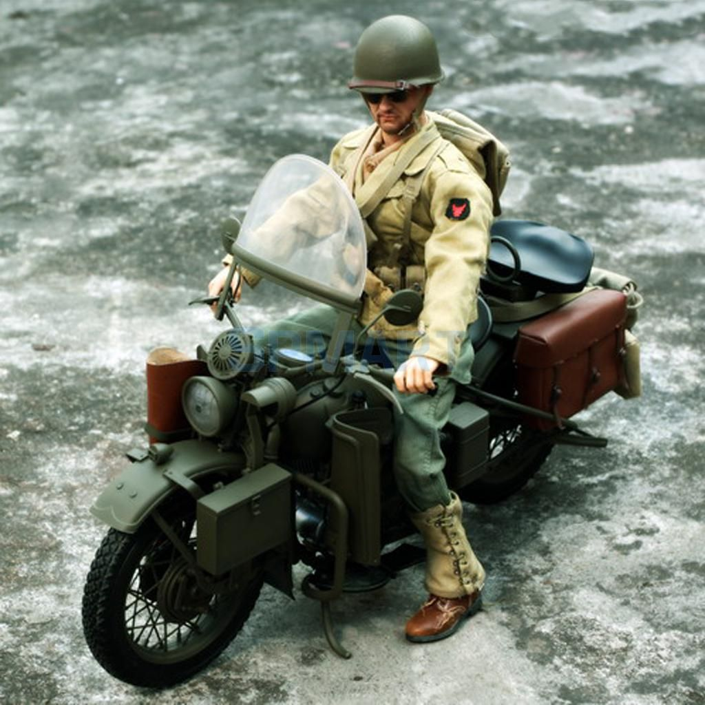 1/6 Scale Plastic US Army Soldier WWII Motorcycle Motorbike Model for 12'' Action Figure Hot Toys Sideshow Captain America