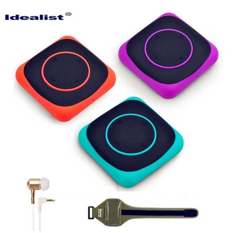 Idealist mp3 player 4gb Mini LED Light Flash Clip MP3 Music Player With Armband Design Digital Music Player