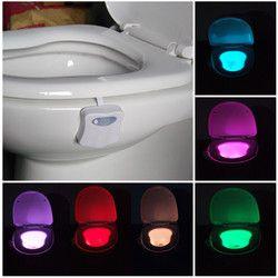 8 Couleurs LED Lumières avec Motion Sensor Toilettes Lumière 3A Batterie-exploité Automatique Lampe RGB toilette Led Night Light coloré