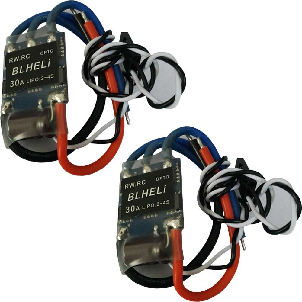 2pcs LIPO 2-4S RW.RC BLHeli Program OPTO Mini 30A ESC for Multirotor 250 FPV