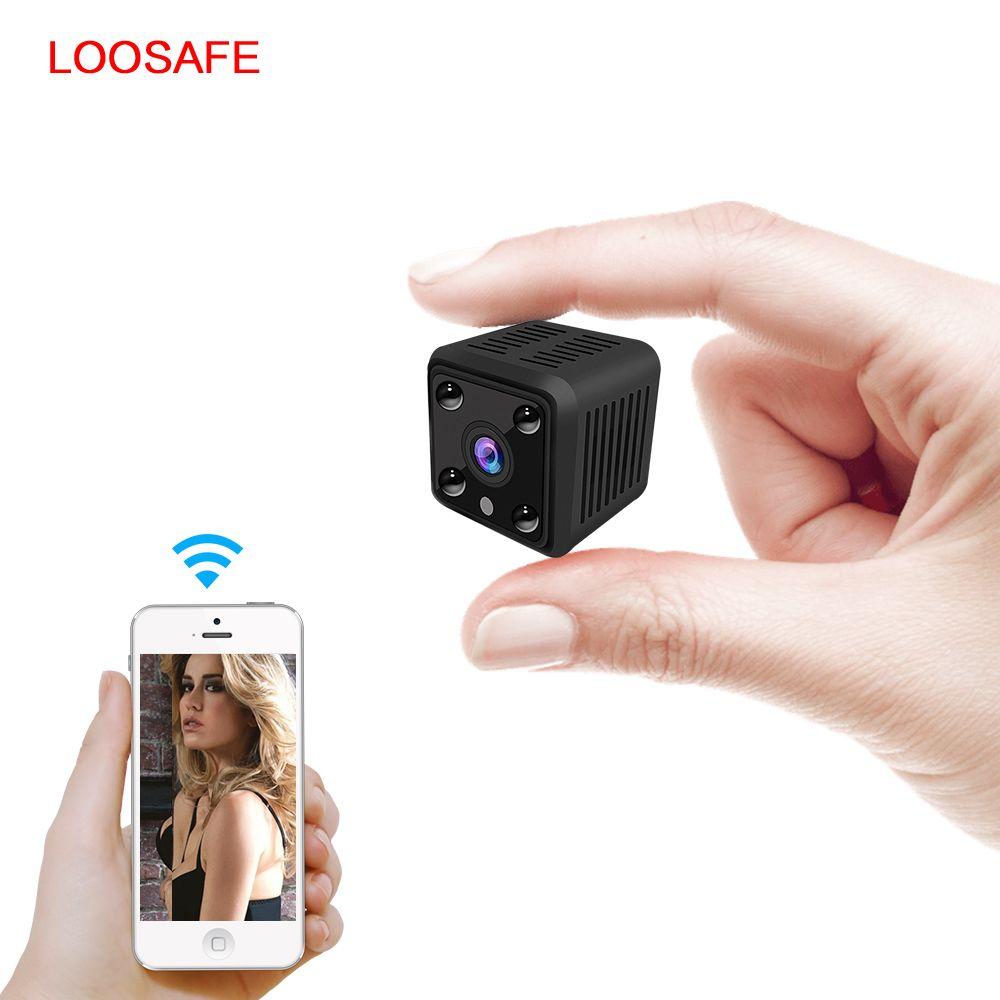 LOOSAFE Mini caméra IP intelligente 720P HD Vision nocturne petit caméscope Micro Onvif P2P téléphone Surveillance vidéo à distance caméra PTZ
