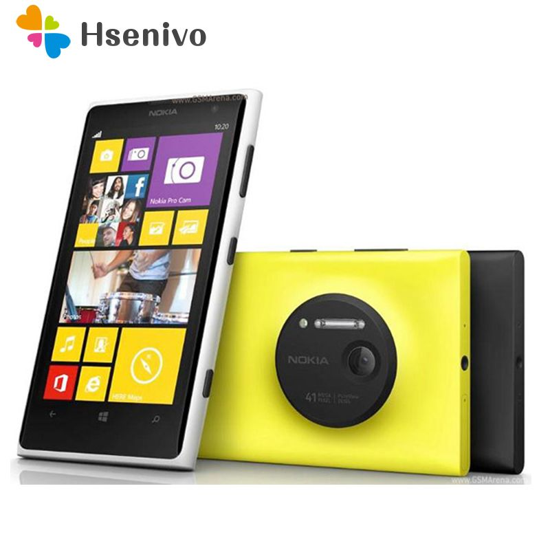 Original Phone Nokia lumia 1020 Windows phone 2GB 32GB Camera 41MP GPS Wifi 4.5 inch Screen Unlocked Lumia 1020 mobile phone