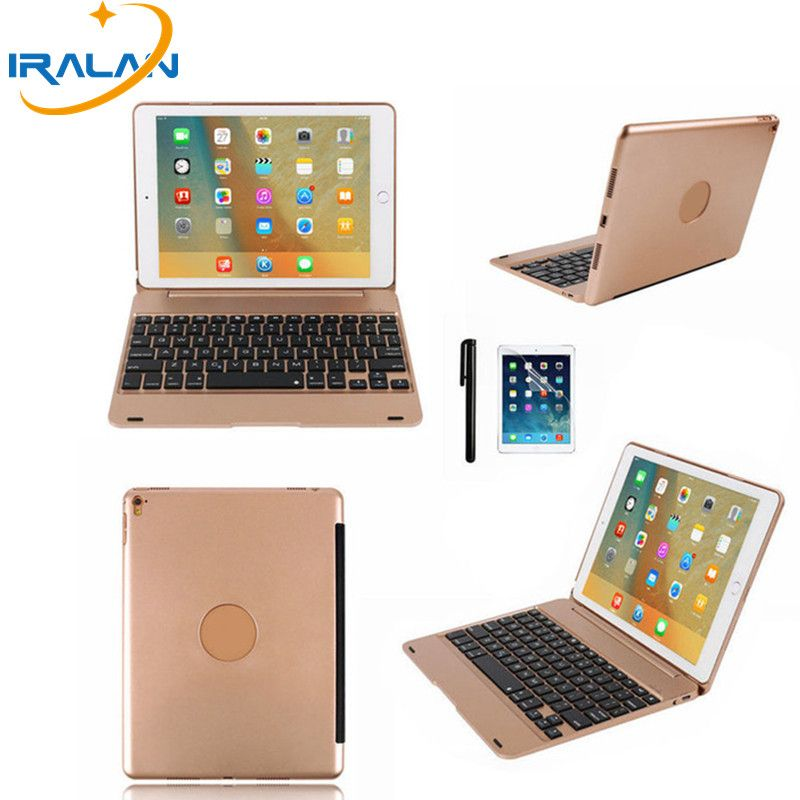 2018 new Wireless Bluetooth Keyboard case For Apple ipad pro 9.7 ultra-thin aluminum panels Magnetic Interface cover+film+stylu