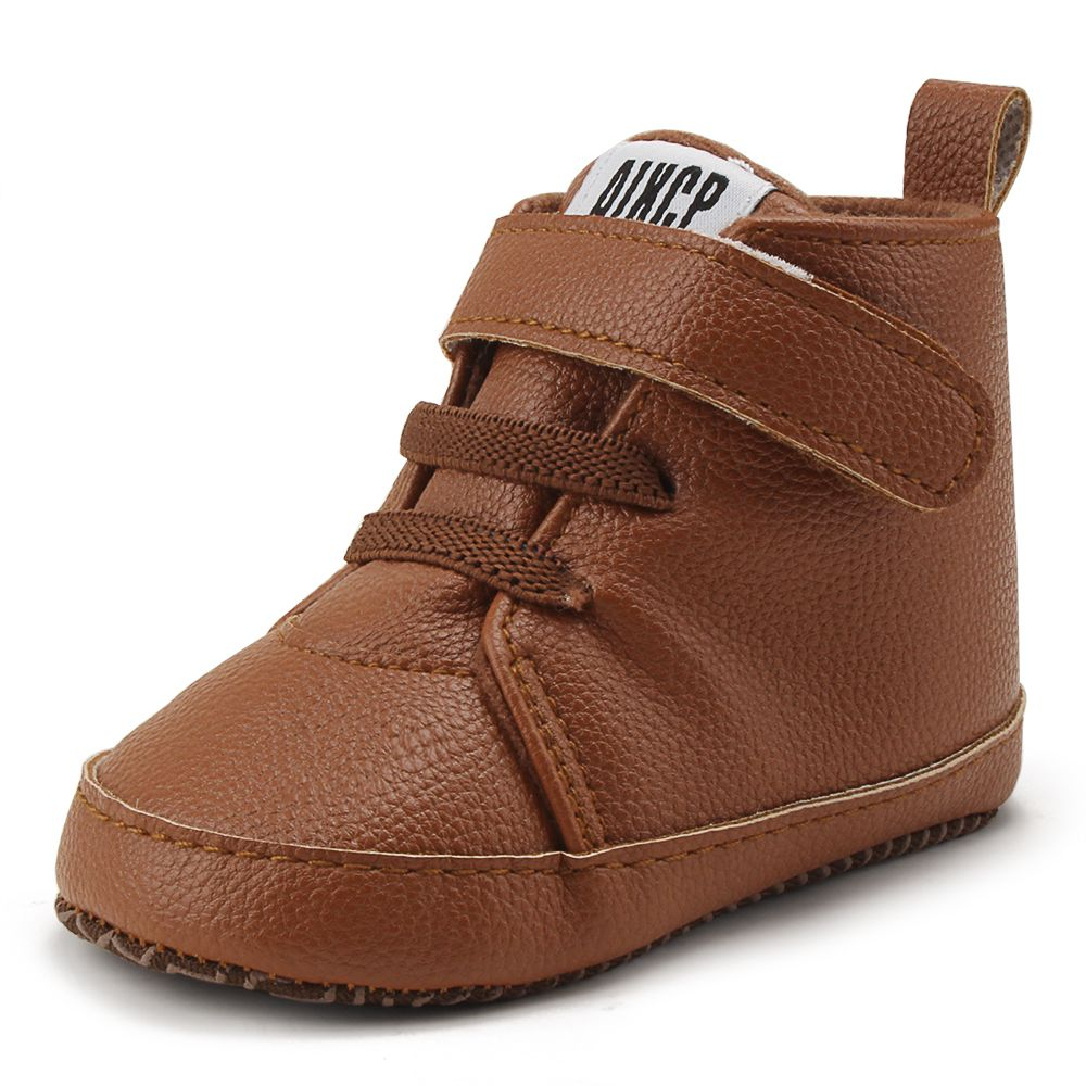 Delebao Pu Leather Hook & Loop Baby Shoes Cotton Sole Infrant Toddler Baby Boy Shoes For 0-18 Months Wholesale First Walkers