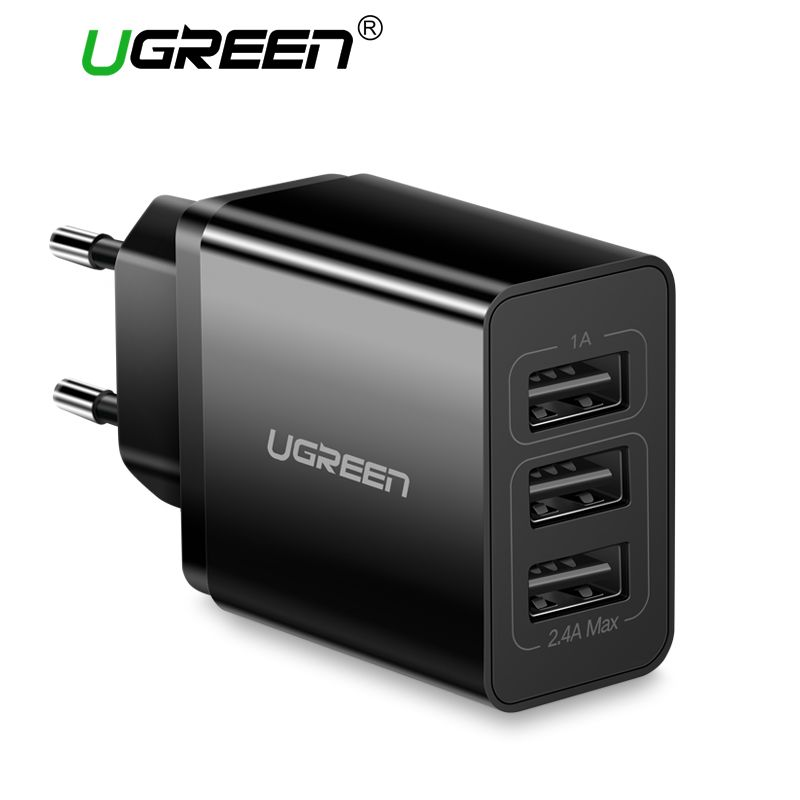 Ugreen USB Charger 5V3.1A Travel USB Charger for iPhone X 8 Universal Mobile Phone Charger for Samsung Xiaomi Wall Phone Charger