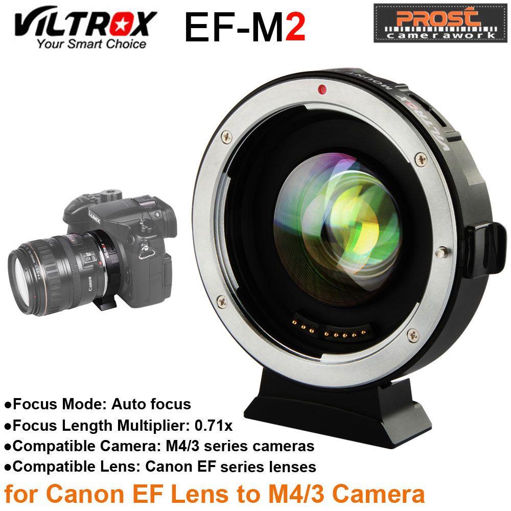 Viltrox EF-M2 AF autofokus EXIF 0.71X Geschwindigkeit Reduzieren Booster Objektiv Adapter Turbo für Canon EF objektiv um M43 Kamera GH4 GH5 GF6 GF1