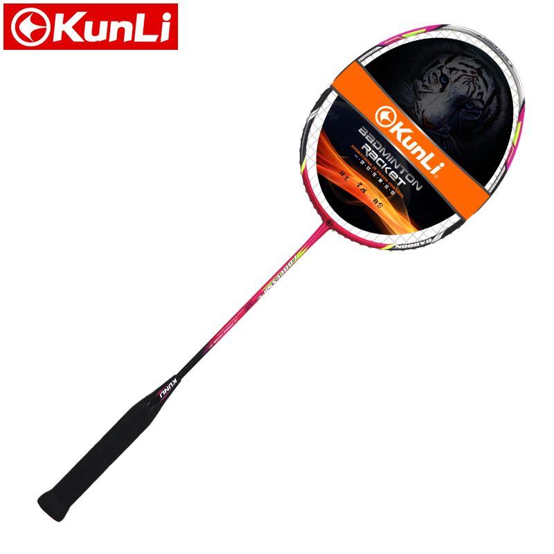 Original KUNLI offizielle badminton schläger 5U 79g FORCE79 vollcarbon Ultra licht angriff schläger professionelle feder schläger