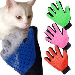 Deshedding guante de cepillo para animales suministros gato mascota guantes peine cinco dedos guante Grooming suministros gato mascota limpia S1