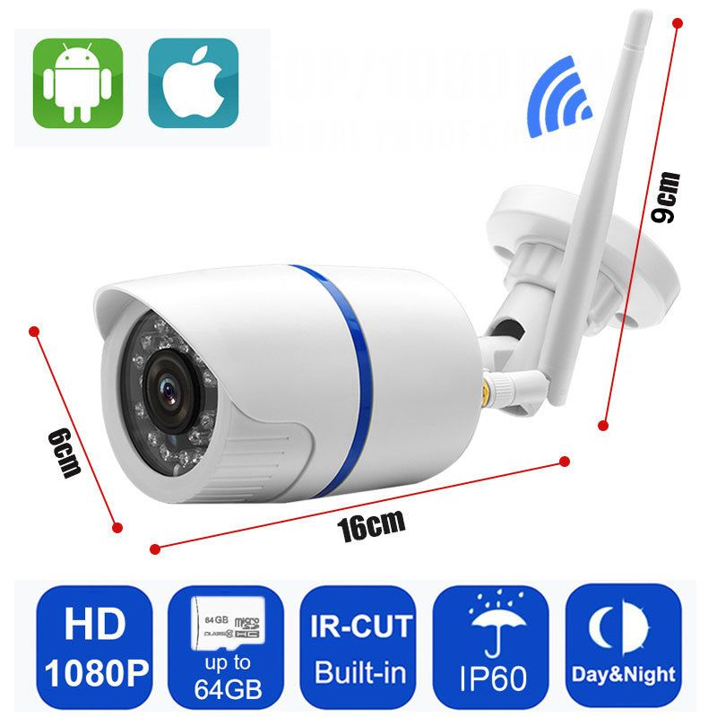 IP Camera 720P/960P/1080P Wifi Yoosee Indoor/Outdoor Security Wireless CCTV Surveillance Waterproof IP60 Camera Support SD Card