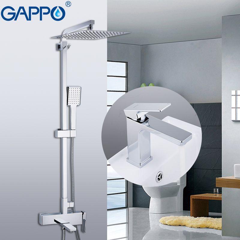 GAPPO Dusche Armaturen messing wasserhahn chrom bad bad wasserhahn mixer dusche wasserhahn mit becken tap robinetterie salle de bain