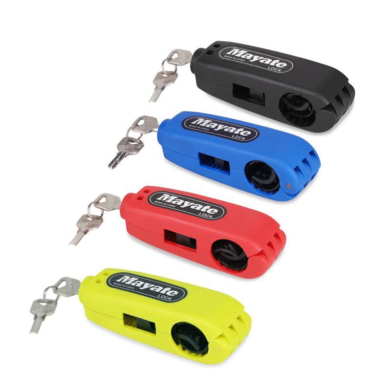 1Pcs Universal Motorcycle Lock Motorbike <font><b>Scooter</b></font> Handlebar Safety Lock Brake Throttle Grip anti theft Protection Security Lock