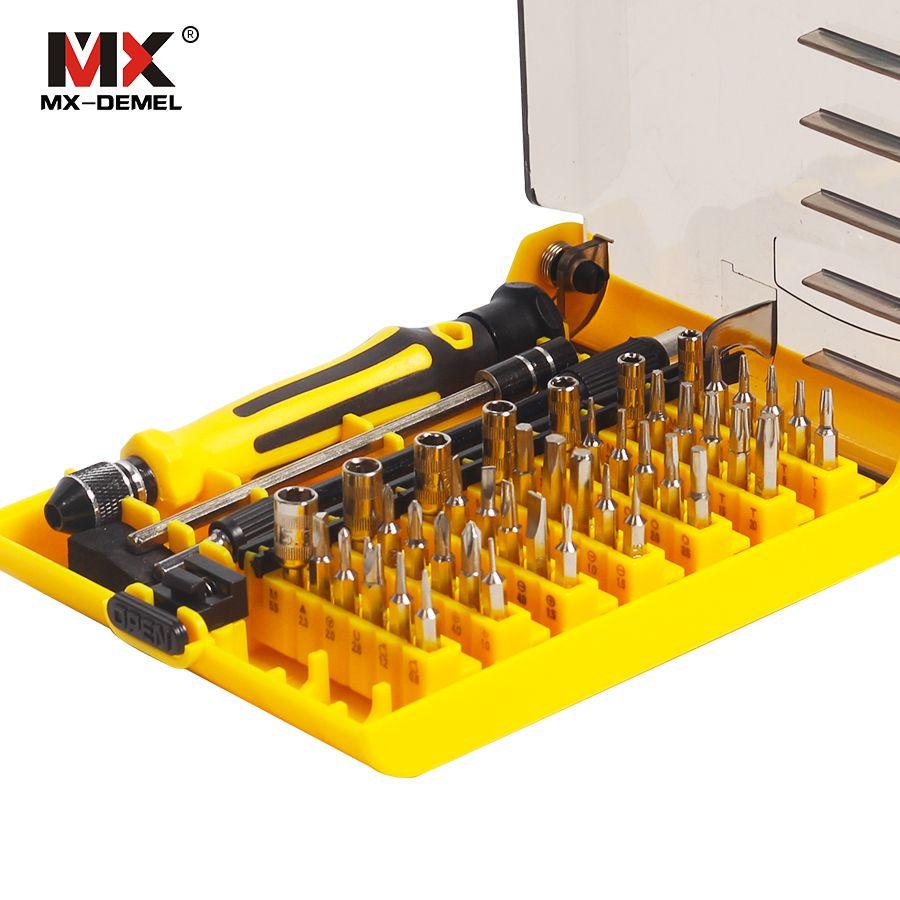 MX-DEMEL Précision 45 en 1 Multi-but Torx Magnétique Tournevis À La Main Set Ménage Main Tool Set Réparation D'ouverture Phone outils