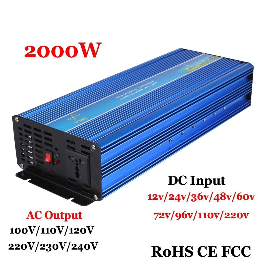 2000 W Off Grid Reine Sinus-wechselrichter, surge Power 4000 W 12 V/24/36/48VDC to110V/220VAC Einphasig Solar-oder Wind power Inverter