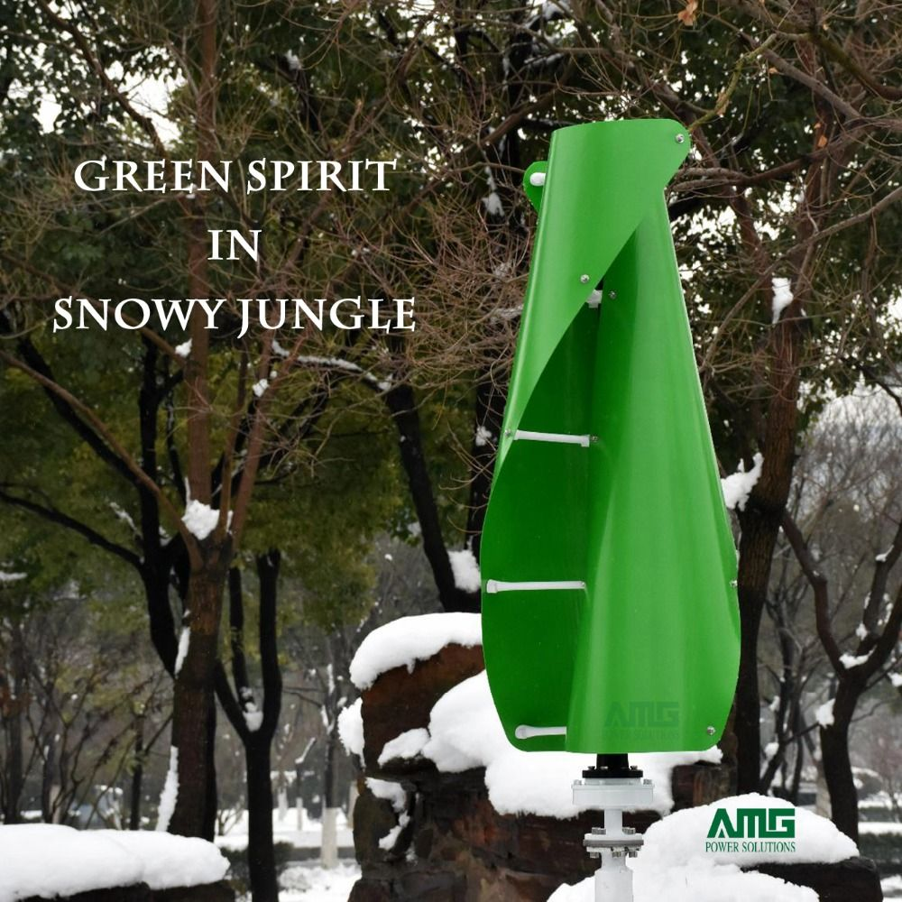 400 W 500 W 600 W 12 V 24 V Grün Farbe Helix Wind Turbine Generator VAWT Vertikale Achse Wohn energie mit Ladegerät Controller