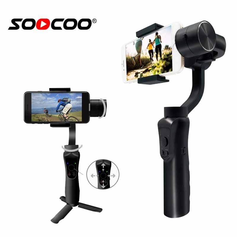 SooCoo Mobile 3 axis stabilizer Handle Gimbal for iphone Samsung Huawei Xiaomi soomth (Phone not include )Bluetooth APP Control