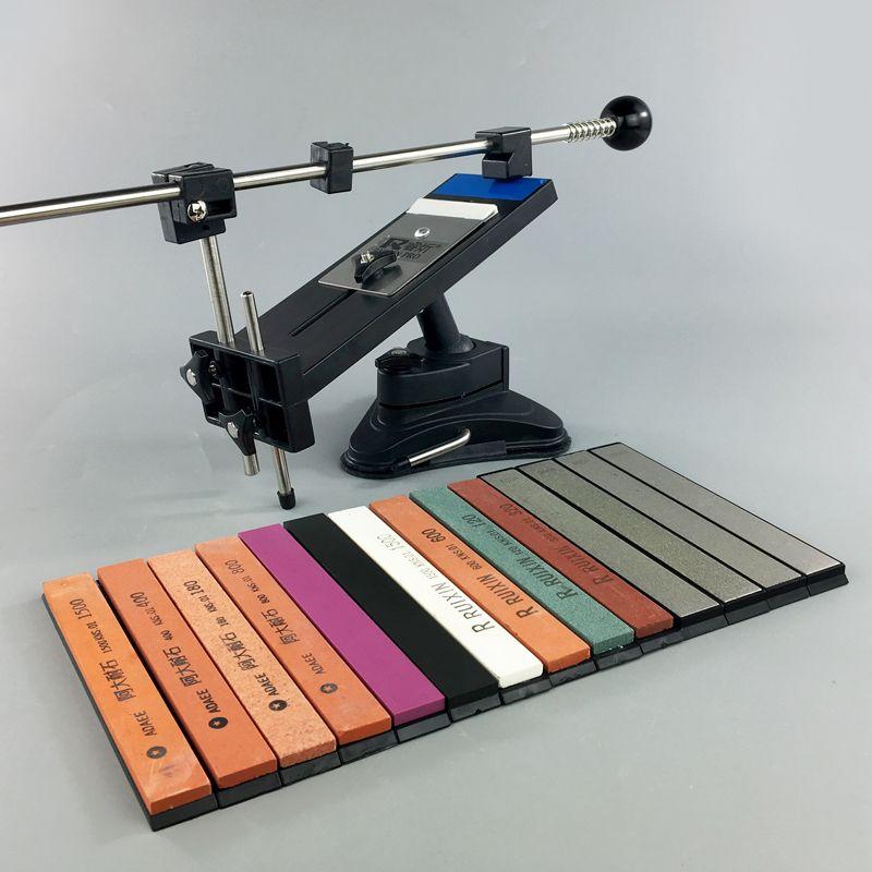 Ruixin Pro II professionnel aiguiseur de couteaux chef système d'affûtage de couteaux crayon Apex aiguiseur de bords 4 pierres à aiguiser barres