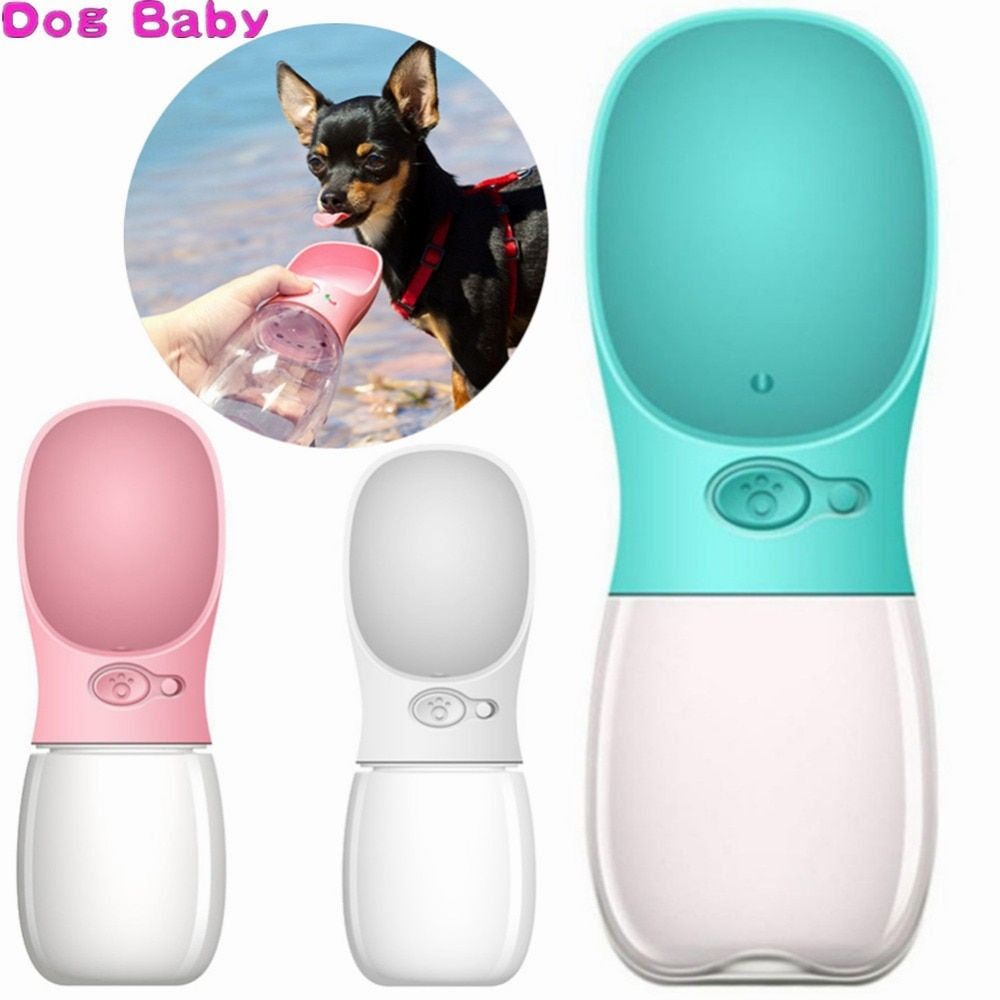 DOGBABY 350ML/500ML Portable Pet Dog Water Bottle Travel Puppy Cat Drink Bowl Outdoor Outside Pet Water Squeeze Dispenser Feeder