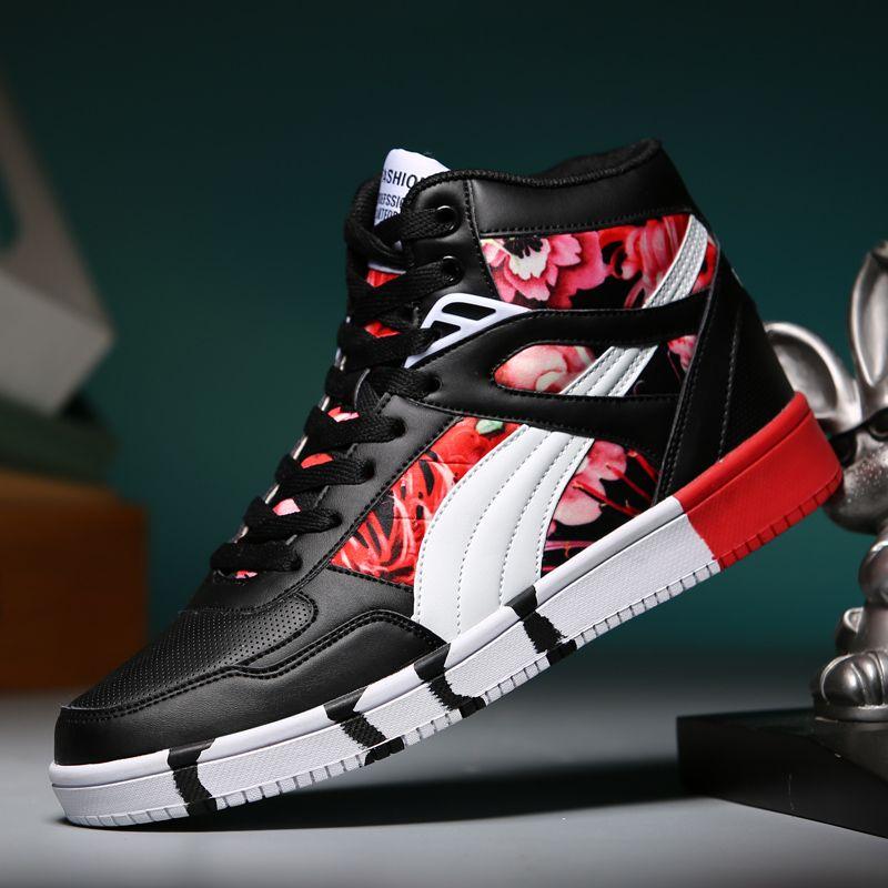 2019 marque hommes chaussures de Skateboard unisexe en cuir hip hop baskets à lacets athlétique femmes chaussures de Sport Tenis Feminino Esportivo