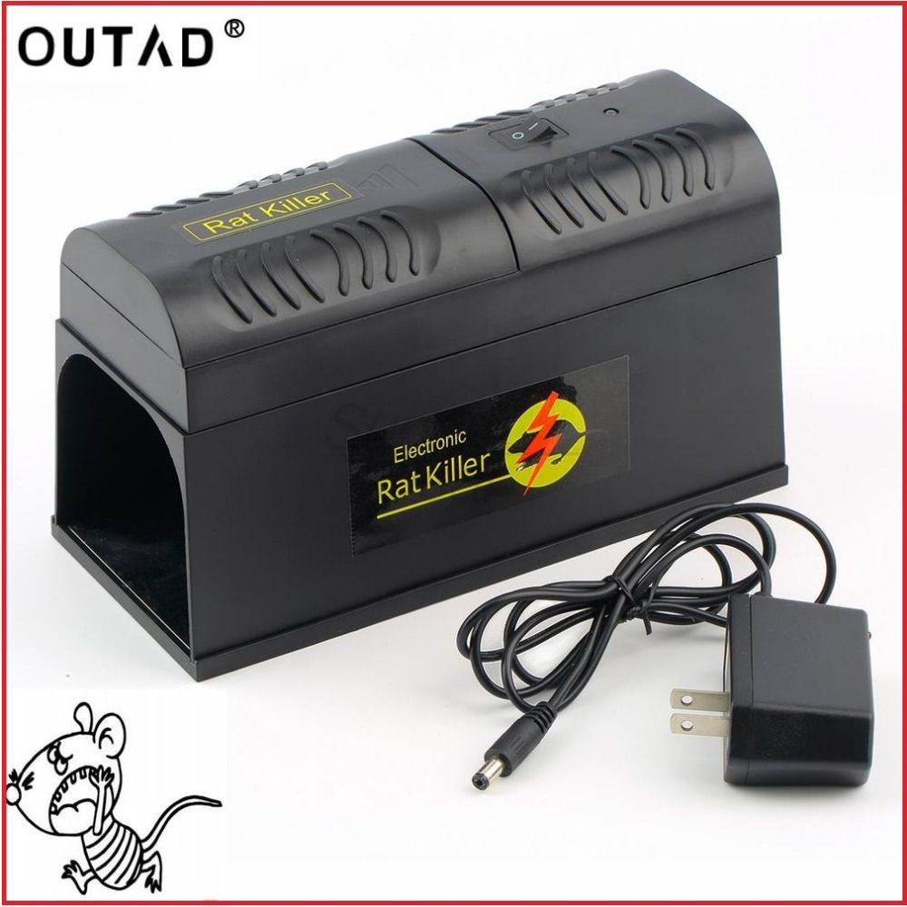 OUTAD New High Quality Electrocute Electronic Rat Trap Mice Mouse Rodent Killer Electric Shock US Plug Adapter High Voltage