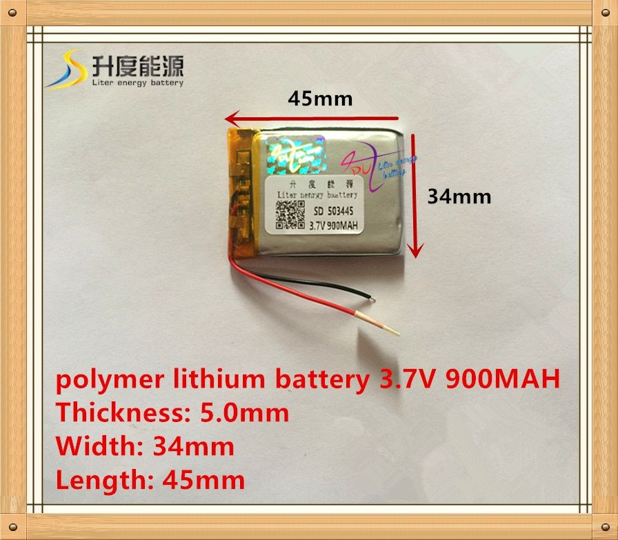 503445 Rechargeable Lithium Polymer 3.7V 900mAh Li-ion Battery For bluetooth headset Speaker GPS PSP PDA MP3 MP4 MP5 053443