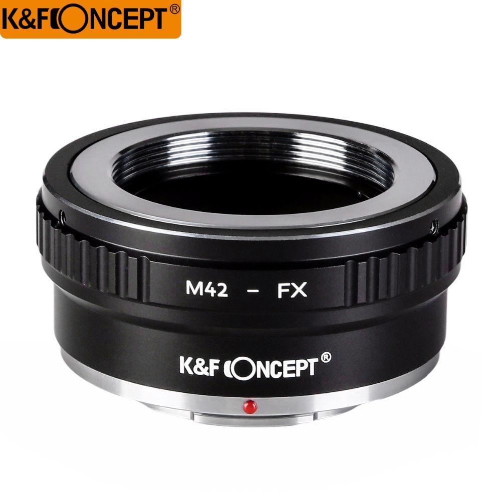 K & F CONCEPT M42-FX II DSLR caméra adaptateur de montage d'objectif pour M42 monture à vis pour Fujifilm FX objectif x-series Microless caméra