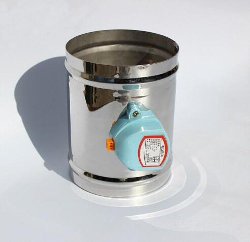 100MM Stainless steel electric air valve valve, 220VAC Air damper air tight type, 4