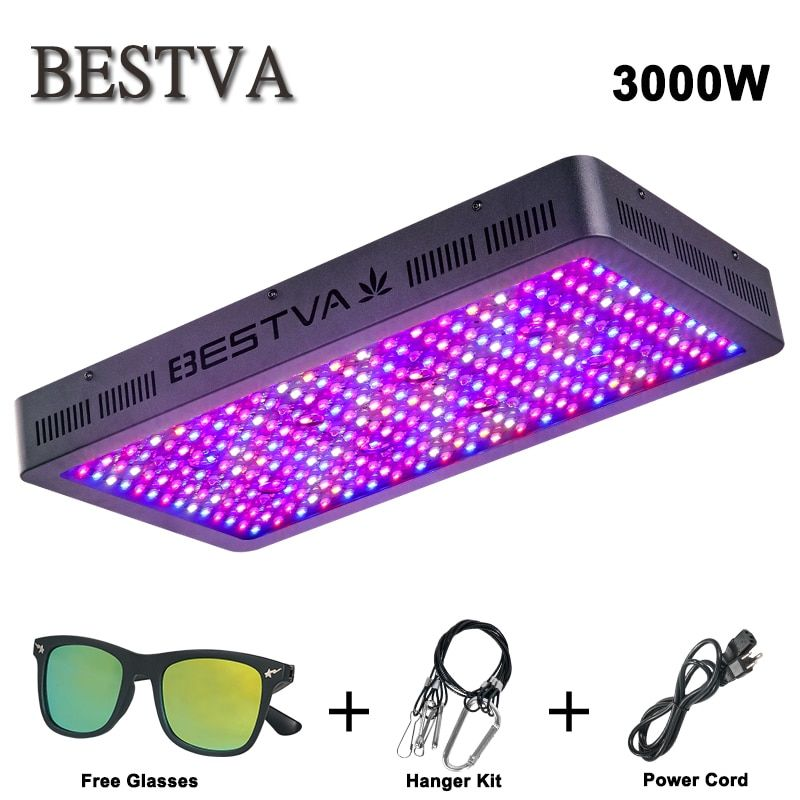 BESTVA 3000W led grow light full spectrum for indoor plants Greenhouse grow tent Hydroponics veg flower replace 2000 watt HPS/MH