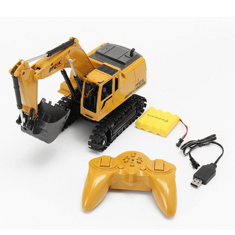 AO HAI 1/24 2.4Ghz 8CH Die-cast Remote Excavator Engineer Truck Toys For Kids Children Gift