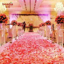 500 pcs/Lot De Mariage Événements Décoration Soie Rose Petals Tableau Artificielle Fleurs de Fiançailles Célébrations Parti Fournitures
