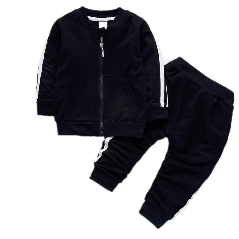 Mode Printemps Automne Bébé Garçons Filles Coton Veste Pantalon 2 pcs/ensembles Infantile Survêtement Enfants Vêtements Ere Enfants Zipper Vêtements