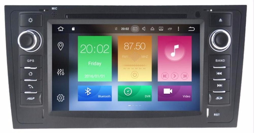 4G LTE 7 Inch 2 Din Auto Radio Android 8.0 Car DVD player For AUDI A6 S6 RS6 GPS Navigation Multimedia WIFI Audio Stereo Canbus