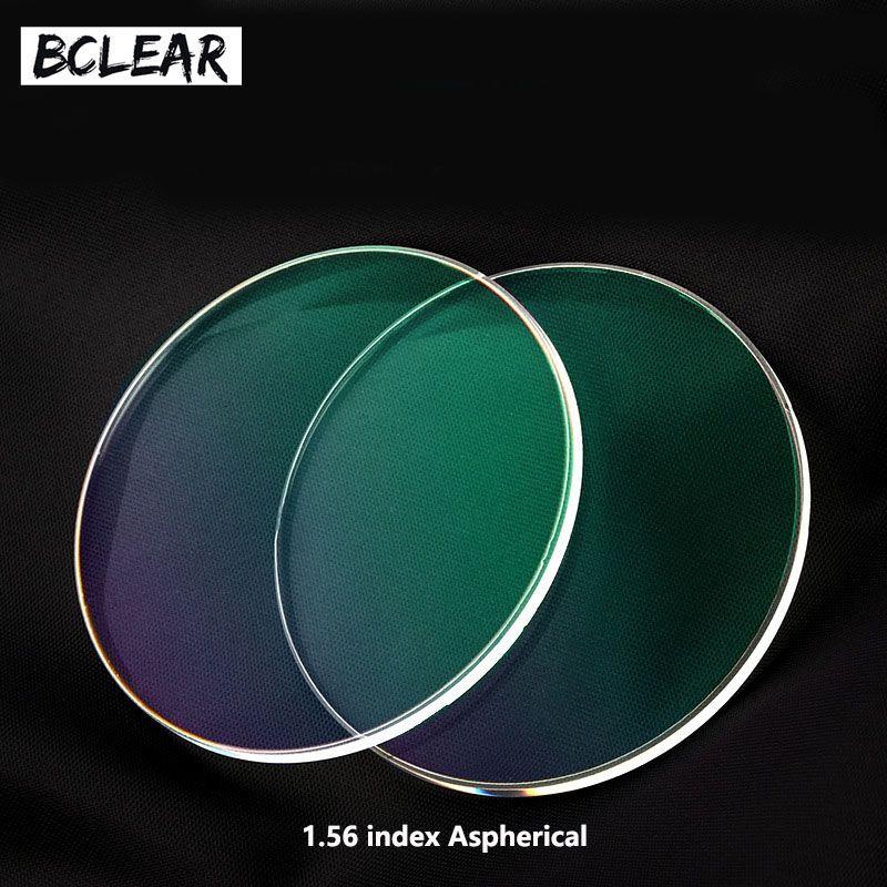 BCLEAR 1.56 lentilles de Prescription asphériques Hmc UV TCM lentille optique dioptrie myopie lecture presbytie astagmatisme lunettes de Spectacle