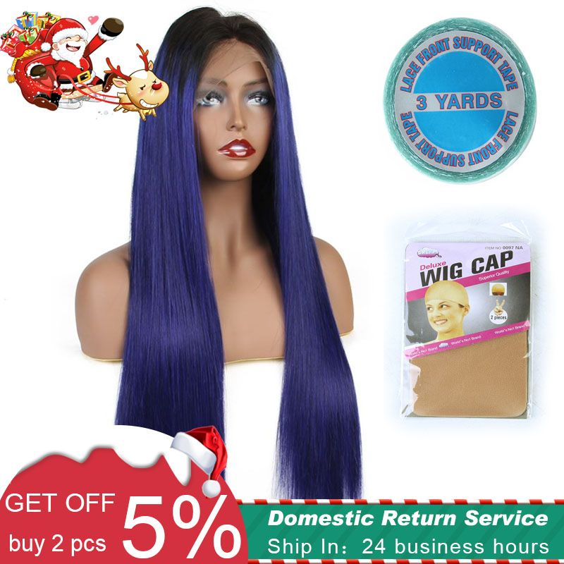 Christmas Spercial Offer Lace Front Human Hair Wigs Brazilian remy straight 150%Full 13x6 deep part wig with tape and cap gifts