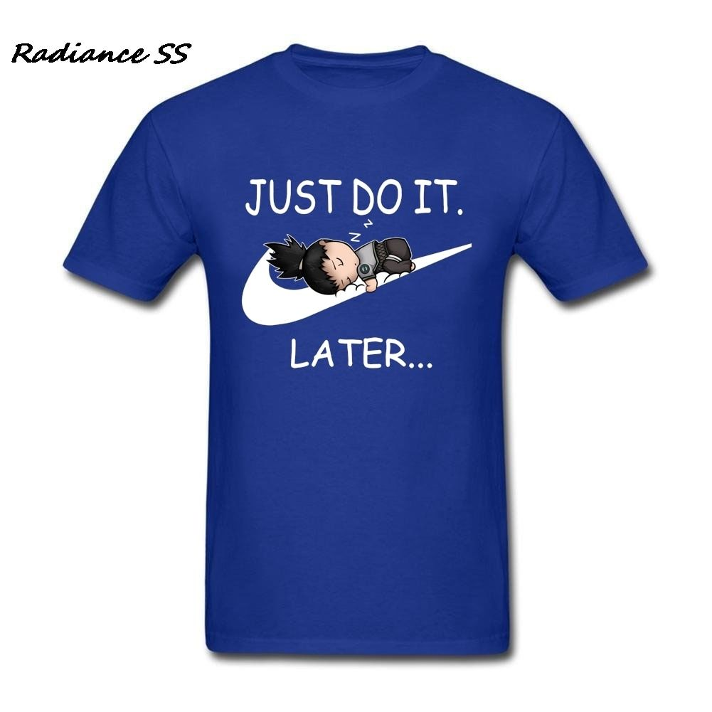 Funny T Shirt Men Hot Sale <font><b>Just</b></font> Do It Later Shirts Harajuku Short Sleeve T-Shirts Teenager Tops