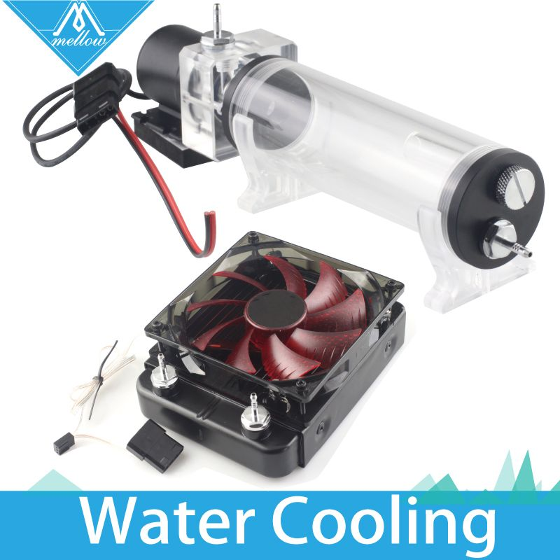 HOT!3D printer Upgrade KIT Titan AQUA Water Cooling Kit for E3D Hotend Titan Extruder for TEVO Cyclops+ and Chimera+