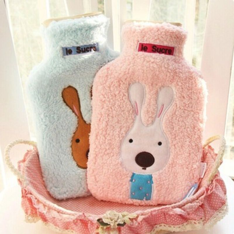 2017 New Creative Cute Cartoon Rabbit Hot Water Bottle Bag Safe And Reliable High-quality Rubber <font><b>Washable</b></font> Household Warm Items